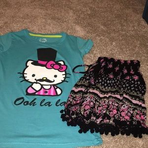 Hello kitty size 14-16 and skirt medium